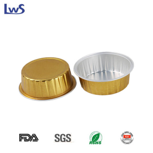 LWS-RC72 Color coated aluminum foil baking cups