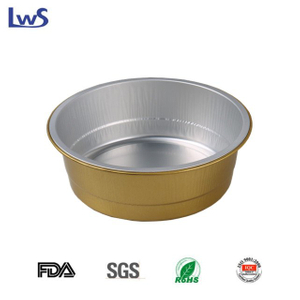 LWS-RC180 Round coated aluminum foil container
